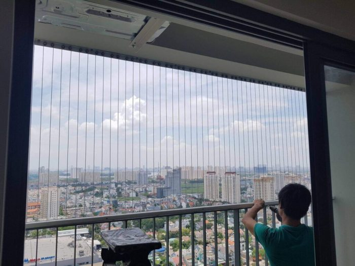 Lắp đặt lưới an toàn ban công tại Hà Nội